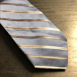 Blue and Silver Calvin Klein Tie
